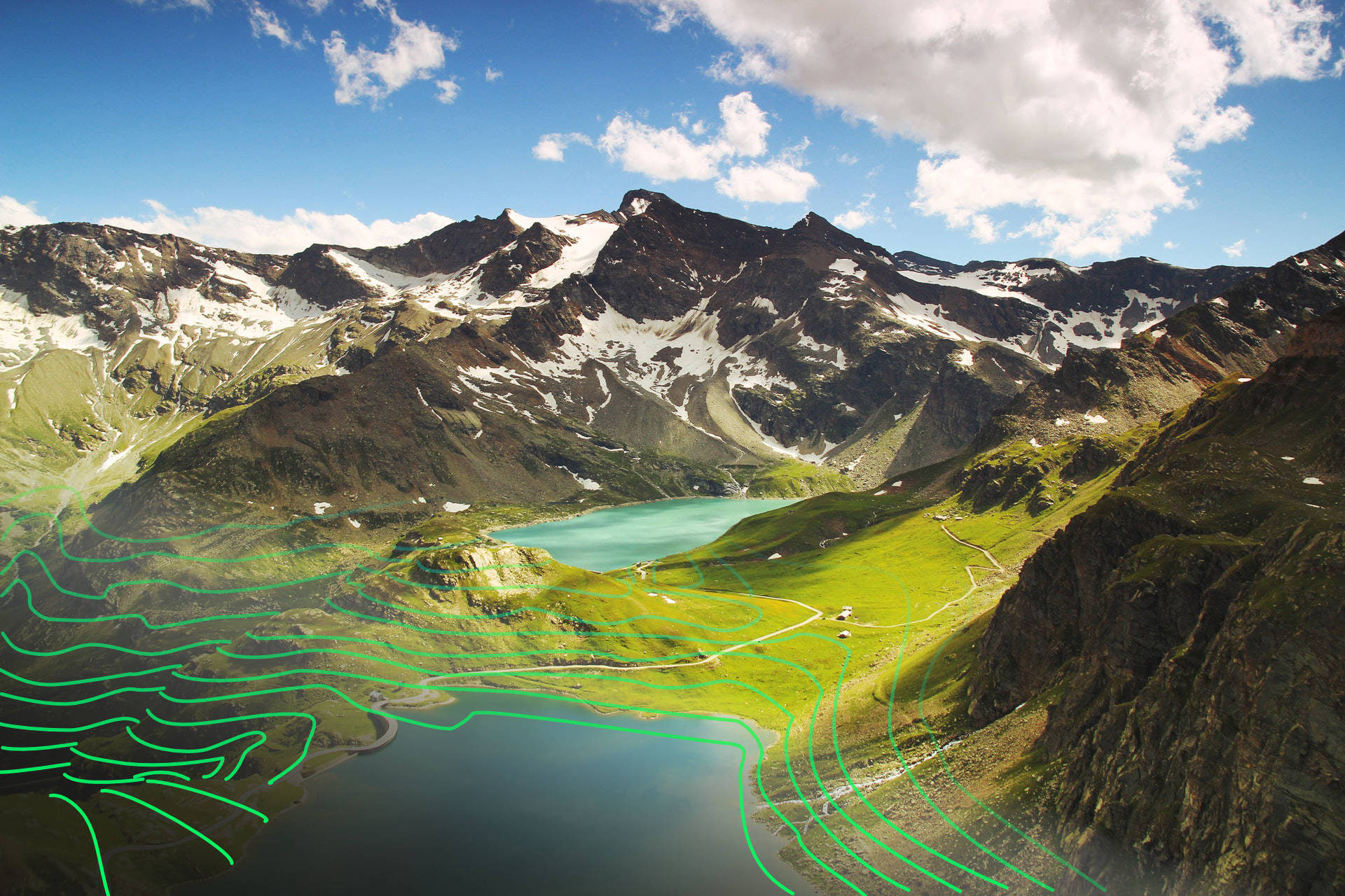 Photogrammetry Topographic-Aerial Mountains